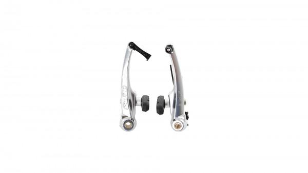 """CONTEC V-Brake """"BR-CT10""""; SB-verpackt, Aluminium, mit Kabelführungsröhrchen 90°, geschmiedet, Bremsschuh 63mm mit Schraubbefestigung, Schenkellänge 11"""
