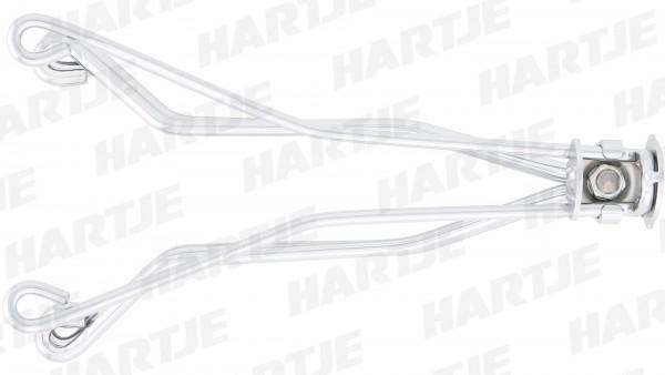 CONTEC Satteluntergestell; CrMo-Ersatzuntergestell, lose, silber, für Sattel Classic Exclusiv Touring DS, inkl. Feder