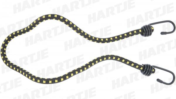 """CONTEC Spanngurt """"String""""; SB-verpackt, rund, extra starker Haken, Nylon-Ummantelung, 10 x 800mm, schwarz / gelb"""