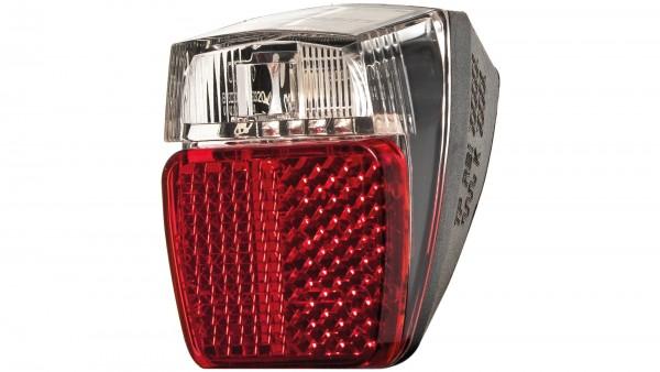"""HERRMANS LED-Rücklicht """"H-Trace Mini Dynamo""""; SB-verpackt, mit Standlicht, Schutzblechbefestigung oder mittels Adapter an der Sitzstrebe, mit deutsche"""
