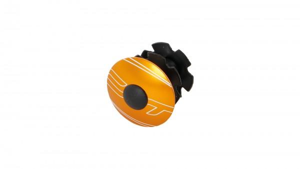 "CONTEC Ahead-Kralle ""Select""; 1 1/8"" SB-verpackt, mit Aluminium-Kappe und Schraube, Odd orange"