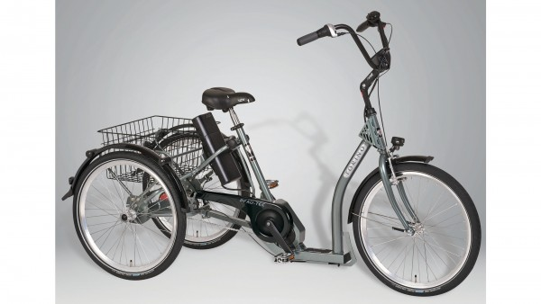 "PFAU-TEC Elektro-Shoppingrad ""Torino"" Mod. 21, Tiefeinsteiger, 24 / 24"", highland grey, 7-Gang SHIMANO ""Nexus"" RBN, 45cm"