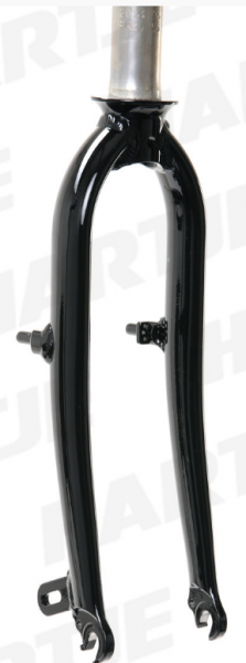 "TERN Aluminium-Gabel 20"", schwarz, 74/ 142 mm, Canti Sockel, passend für Verge Duo Mod.13/14"