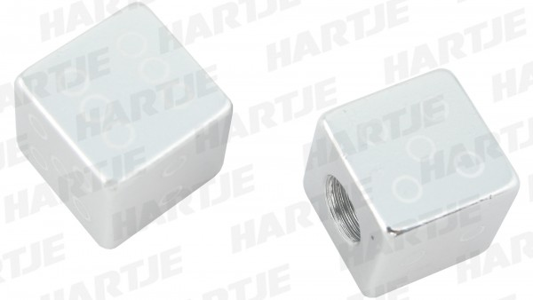 CONTEC Ventilkappe; SB-verpackt, für Schraderventil; Paarweise, Gambler, Aluminium, chrom