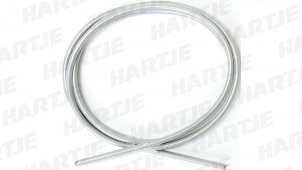 """CONTEC Bremszugaußenhülle """"Dutch Classic""""; SB-verpackt, Innen-Ø 2,5mm, Außen-Ø 5,0mm, 1700mm lang, inkl. Anschlaghülsen, mit Teflon Beschichtung, silb"""
