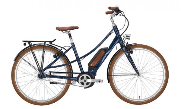 "EXCELSIOR Elektro-Cityrad ""Vintage E"" Mod. 21, Mixte, 28"", navy blue, 7-Gang SHIMANO ""Nexus"" LL, 48cm"