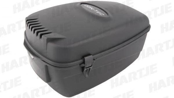 "CONTEC Gepäckträgerbox ""Trunk Space""; Volumen: 15,5l, Maße (L x B x H): 43,2x26,2x22,5cm; Abschließbare Kunststoffbox, diebstahlsicher zu befestigen,"