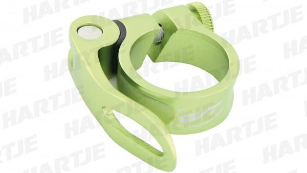 """CONTEC Sattelklemmschelle """"SC-303 QR Select""""; SB-verpackt, Aluminium, Ø 31,8mm; Mit Schnellspanner, 15mm hoch, Guerilla green"""