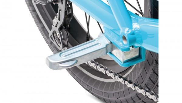 """TERN Fußruhen """"Sidekick Foot Pegs""""; Passend für TERN GSD, Paar, einklappbar, zur Montage an den Hinterbau, Aluminium, silber"""