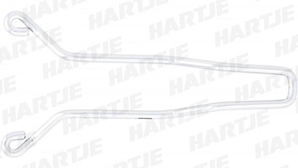 CONTEC Satteluntergestell; CrMo-Ersatzuntergestell, lose, silber, für Nylonsättel Neo Classic Touring