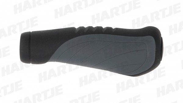 """CONTEC Griff """"Tour Ergo""""; SB-verpackt, D2-Zweikomponenten, ergonomisch, Paar, schwarz / grau; Im Bereich der Handauflage sorgt die weiche Gel-Mischung"""