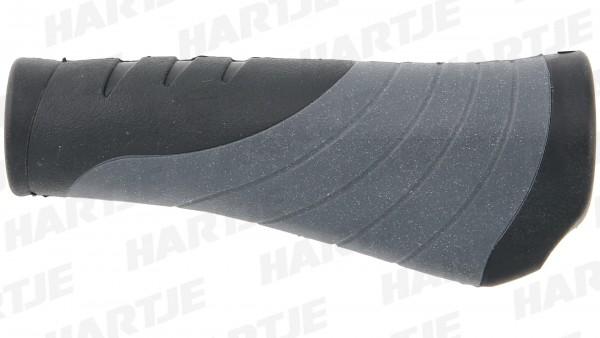 """CONTEC Griff """"Tour Pro""""; SB-verpackt, D2-Zweikomponenten, ergonomisch, Lenkerklemmung, Paar, schwarz / grau; Im Bereich der Handauflage sorgt die weic"""