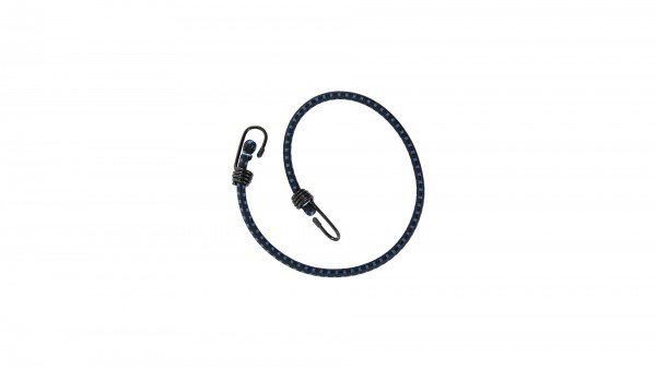 """CONTEC Spanngurt """"String""""; SB-verpackt, rund, extra starker Haken, Nylon-Ummantelung, 10 x 800mm, schwarz / blau"""