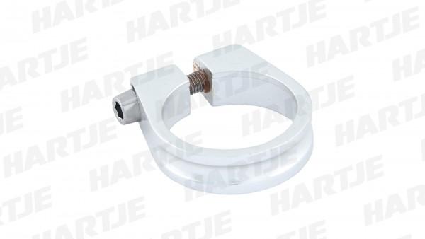 "CONTEC Sattelklemmschelle ""SC-100""; SB-verpackt, Aluminium 7075 T6, 18g; Mit Innensechskantschraube, 11mm hoch, Ø 31,8mm, silber"