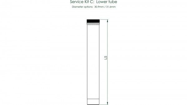 """CONTEC Service Kit """"Drop-A-Gogo""""; Für Variosattelstützen, zur Wartung und Erneuerung, Service Kit C: Unterrohr, für Ø 31,6 / 100mm Verstellbereich"""