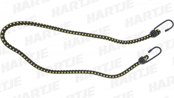 """CONTEC Spanngurt """"String""""; SB-verpackt, rund, extra starker Haken, Nylon-Ummantelung, 10 x 1000mm, schwarz / gelb"""