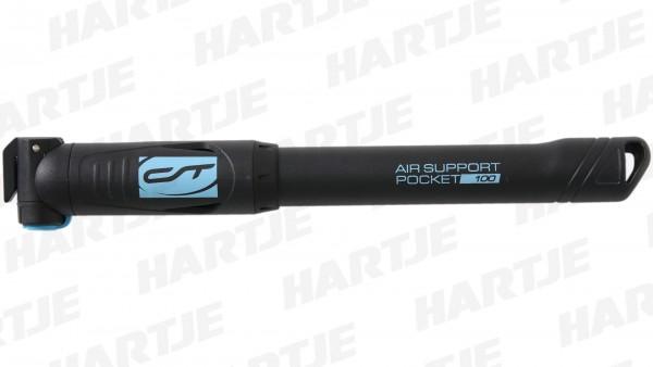 """CONTEC Minipumpe """"Air Support Pocket Neo 100""""; 7 bar / 100 psi, für alle Ventile, Kunststoff; SB-verpackt, leichtes thermoplastisches Kunststoffgehäus"""