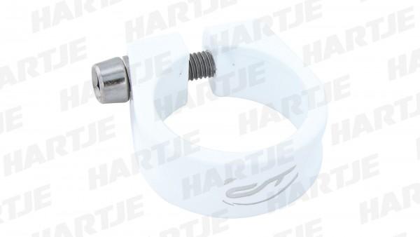 """CONTEC Sattelklemmschelle """"SC-200 Select""""; SB-verpackt, Aluminium 7075 T6, Ø 31,8 mm, 28g; Mit Innensechskantschraube, 15mm hoch, Honky white"""