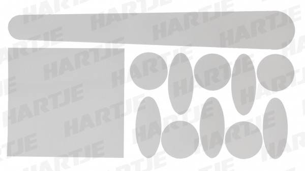 "CONTEC Kettenstreben-/ Rahmenschutzset ""Full HD""; SB-verpackt, High Modulus PU; Passend für alle Rahmengeometrien, verhindert das Zerkratzen des Lacke"