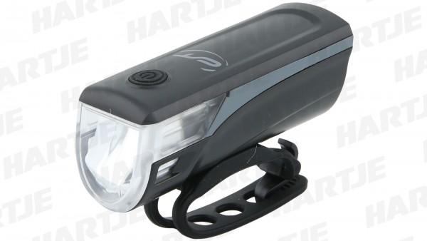 "CONTEC Akku-LED-Scheinwerfer ""Speed-LED USB""; SB-verpackt, 20 Lux, USB, mit deutschem Prüfzeichen; 2,5W CREE XPE LED, inkl. Akku, Aufladung per USB, m"