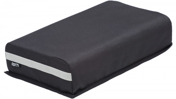 """TERN Sitzpolsterung """"Sidekick Seatpad""""; Sitzauflage zur Montage auf den Gepäckträger, passend für TERN GSD. Aus PU-Leder und Schaumstoff, schwarz. 305"""