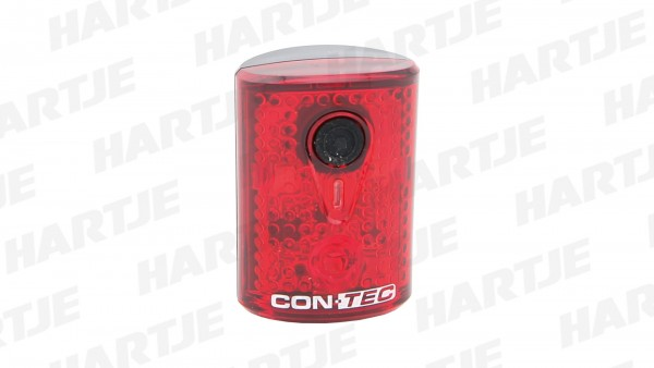 """CONTEC Akku-LED-Rücklicht """"TL-104""""; SB-verpackt, mit Universalhalterung, USB, mit deutschem Prüfzeichen; Integrierter Lithium-Polymer Akku, nur 16,2g,"""