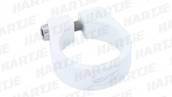 """CONTEC Sattelklemmschelle """"SC-200 Select""""; SB-verpackt, Aluminium 7075 T6, Ø 34,9mm, 28g; Mit Innensechskantschraube, 15mm hoch, Honky white"""