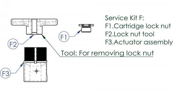 """CONTEC Service Kit """"Drop-A-Gogo""""; Für Variosattelstützen, zur Wartung und Erneuerung, Service Kit F: Dichtungsmutter"""