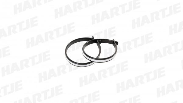 """CONTEC Hosenspange """"Tweezers""""; SB-verpackt, mit Reflexstreifen, Paar, thermoplastischer Kunststoff - formstabil und leicht zugleich, schwarz"""