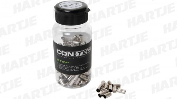 """CONTEC Anschlaghülse """"Stop""""; Flasche mit 200 Stück, für Bremszugaußenhüllen, Ø 5mm, Stahl, silber"""