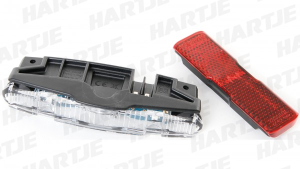 """RACKTIME LED-Rücklicht """"B&M Shine LineTec""""; Mit Standlicht, integriert, für Racktime Gepäckträgerserie Shine, für Dynamobetrieb"""