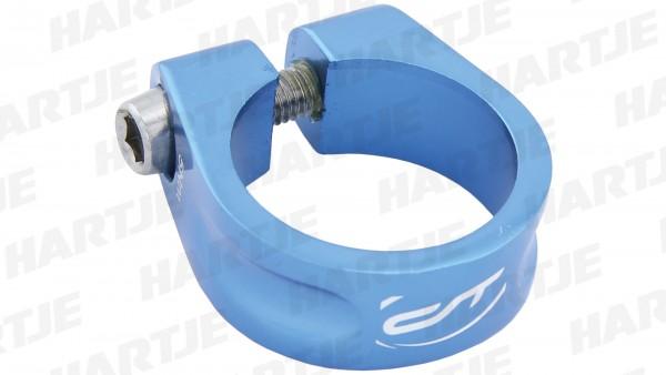 """CONTEC Sattelklemmschelle """"SC-200 Select""""; SB-verpackt, Aluminium 7075 T6, Ø 31,8 mm, 28g; Mit Innensechskantschraube, 15mm hoch, Blue steel"""