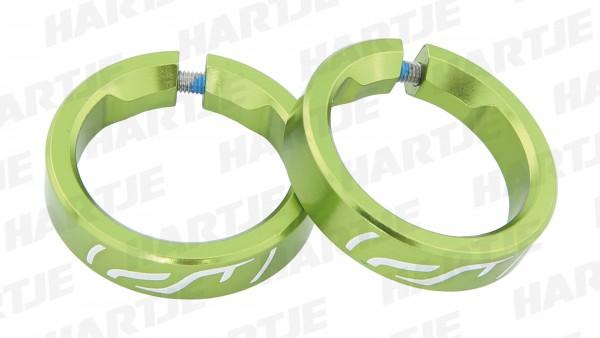 """CONTEC Griff-Klemmringe """"G-Ring Select""""; SB-verpackt, Fahrradgriffklemmring aus Aluminium, zur Klemmung für z.B. CONTEC Lock-on Griffe Trail, Trail Pr"""
