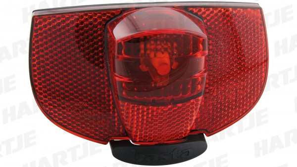 """AXA Gepäckträgerrücklicht """"Ray LED""""; Mit integriertem Z-Reflektor, Doppelkabelanschluss, Lichtaustritt und Reflektor aus schlagfestem Kunststoff, mit"""