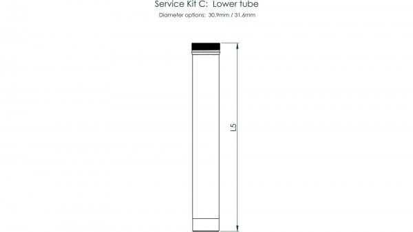 """CONTEC Service Kit """"Drop-A-Gogo""""; Für Variosattelstützen, zur Wartung und Erneuerung, Service Kit C: Unterrohr, für Ø 30,9 / 100mm Verstellbereich"""