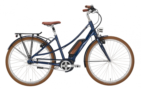 "EXCELSIOR Elektro-Cityrad ""Vintage E"" Mod. 21, Mixte, 28"", navy blue, 7-Gang SHIMANO ""Nexus"" LL, 53cm"