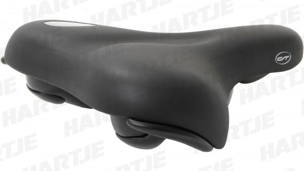 """CONTEC Sattel """"Anatomic +""""; SB-verpackt, Concept Foam, +Gel, Cool Surface, L250xB220mm, schwarz; City / Touren, Vakuum-versiegelt und zu 100% wasserdi"""