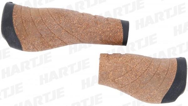 """CONTEC Griff """"Tour Pro Kork""""; SB-verpackt, D2-Zweikomponenten, Paar, ergonomisch, Lenkerklemmung, Kork/schwarz; Im Bereich der Handauflage sorgt die w"""