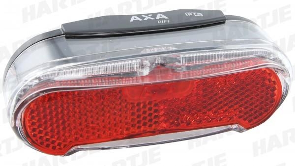 """AXA LED-Gepäckträgerrücklicht """"Riff Steady""""; Mit Standlicht (4 Minuten); Innovativer Breitband-Lichtleiter Technologie für deutlich höhere Erkennbarke"""