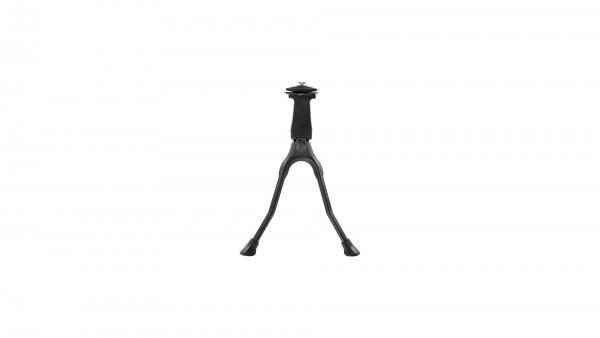 """CONTEC Zweibeinständer """"CKS-301""""; SB-verpackt, schwarz; Aluminium Druckguss, Kunststofffüße, höchste Standfestigkeit, 26"""""""