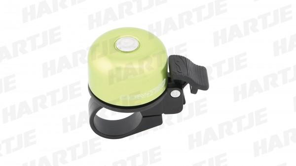 """CONTEC Miniglocke """"Bing""""; SB-verpackt, Aluminium, helltönendes Ding, Ø 37mm, mit Standardklemmung für Lenker-Ø 22,2mm, Guerilla green"""