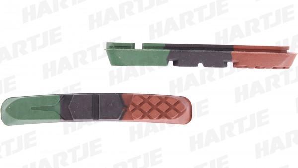 """CONTEC Bremsgummi """"V-Stop 3D""""; SB-verpackt, für Cartridge V-Brake Bremsschuhe, 3D Triple Compound - drei verschiedene Komponenten sorgen für beste Bre"""
