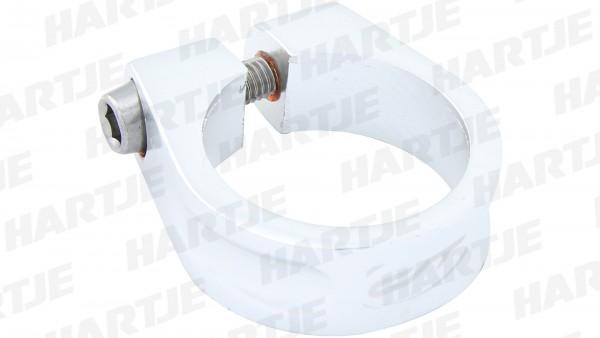 """CONTEC Sattelklemmschelle """"SC-200 Select""""; SB-verpackt, Aluminium 7075 T6, Ø 34,9mm, 28g; Mit Innensechskantschraube, 15mm hoch, Rocket silver"""