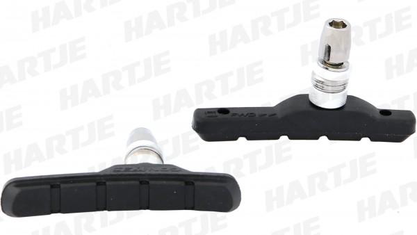 """CONTEC Bremsschuh """"V-Stop""""; SB-verpackt, für V-Brakes; Medium Compound - mittelharte Gummimischung für optimale Verzögerung und minimalen Verschleiß,"""