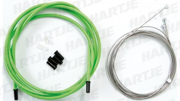 """CONTEC Bremszugset """"Neo Stop+""""; SB-verpackt, vorne und hinten komplett, MTB / Hybrid / Road, universal, Edelstahl, Ø 1,5mm, 1010mm / 2010mm, mit 2000m"""