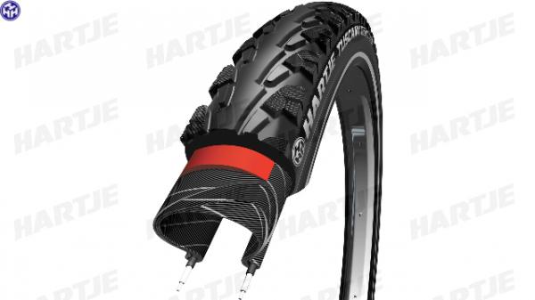 """HARTJE Reifen """"Tuscany""""; SB-verpackt, Economy-Line, Draht, 22 TPI, schwarz / Reflex; Dieser Allround-Reifen bringt überall gute Leistung, ob auf Kies"""