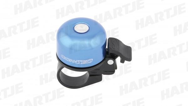 "CONTEC Miniglocke ""Bing""; SB-verpackt, Aluminium, helltönendes Ding, Ø 37mm, mit Standardklemmung für Lenker-Ø 22,2mm, Blue steel"