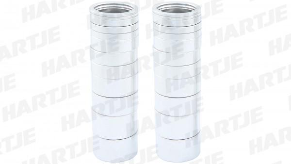 """CONTEC Spacer-Box; SB-verpackt, mit 24 Aluminium Spacern; 4 x 2mm, 6 x 5mm, 6 x 10mm, 4 x 15mm, 4 x 20mm, 1 1/8"""", silber"""