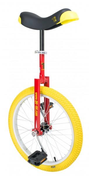 """QU-AX Einrad """"Luxus"""" Mod. 21, 20"""", rot / gelb"""
