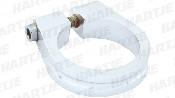 "CONTEC Sattelklemmschelle ""SC-100""; SB-verpackt, Aluminium 7075 T6, 18g; Mit Innensechskantschraube, 11mm hoch, Ø 34,9mm, silber"